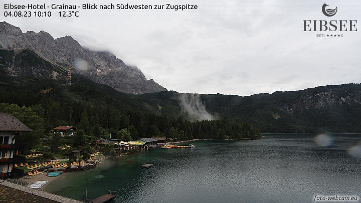 Eibsee met blik op de Zugspitze