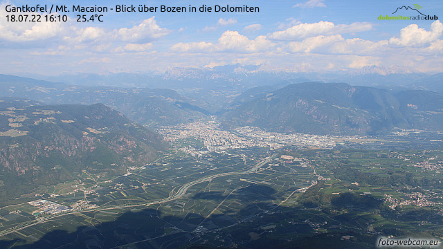 Blick vom Gantkofl Richtung Bozen