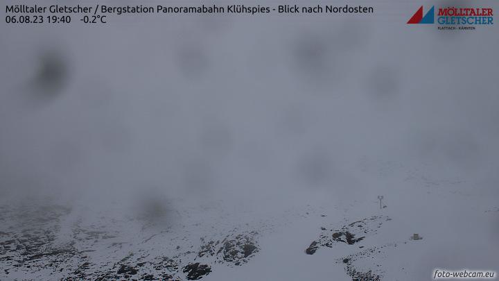 Flattach, Mölltaler Gletscher, Bergstation Panoramabahn Klühspies - Blick nach Nordosten