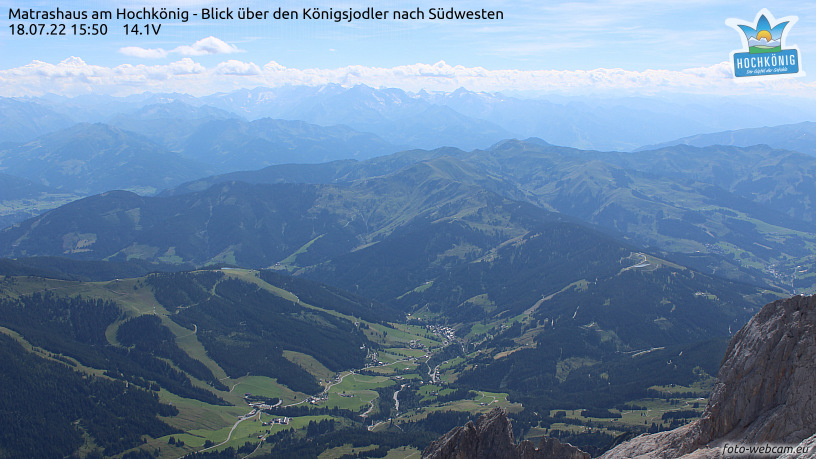 WEBkamera Hochkönig - pohled k jihozápadu
