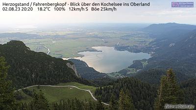 Foto-Webcam Herzogstand Nord über Kochelsee