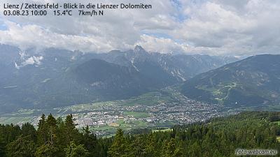Webcam Zettersfeld mit Blick auf Lienz -GleitschirmTandemflug
