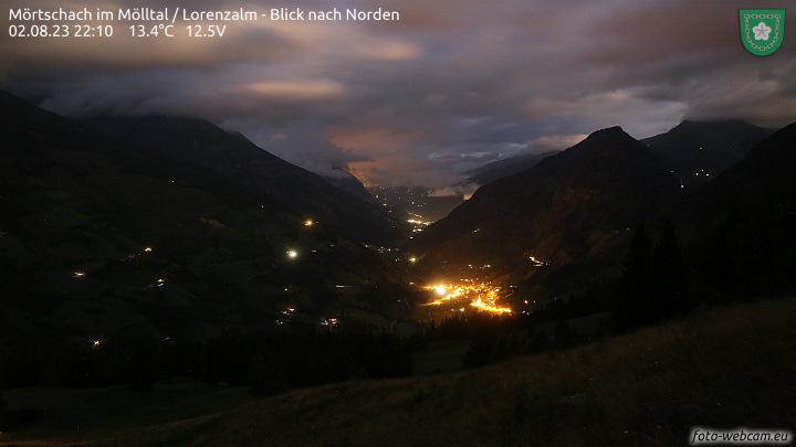 Mörtschach im Mölltal, Lorenzalm - Blick nach Norden