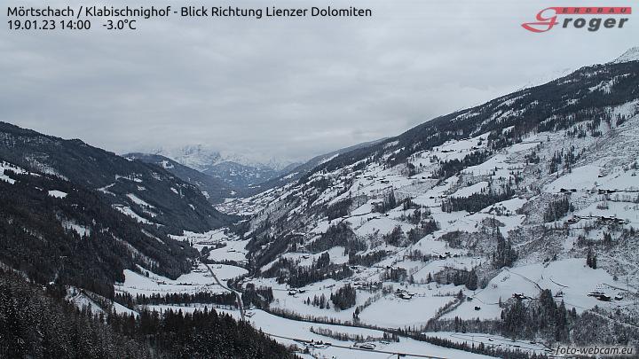 Mörtschach, Klabischnighof - Blick Richtung Lienzer Dolomiten