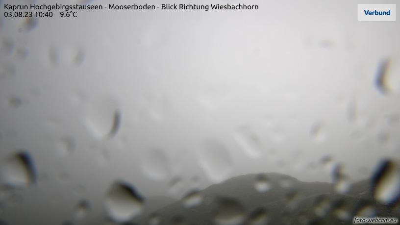 WEBkamera Mooserboden - pohled na Gross Wiesbachhorn