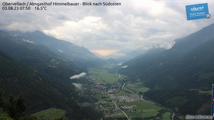 Obervellach, Almgasthof Himmelbauer - Blick nach Südosten