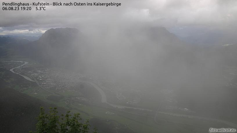 WEBkamera Kufstein, Pendling - pohled na Kaisergebirge