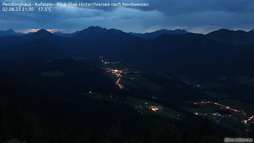 WEBkamera Kufstein, Pendling - pohled na Hinterthiersee