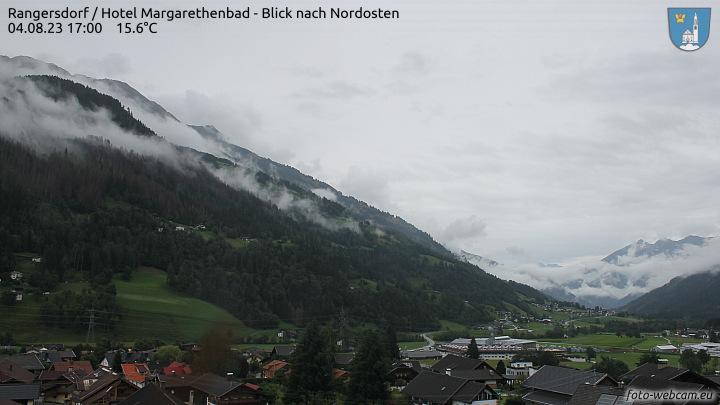 Rangersdorf, Hotel Margarethenbad - Blick nach Nordosten