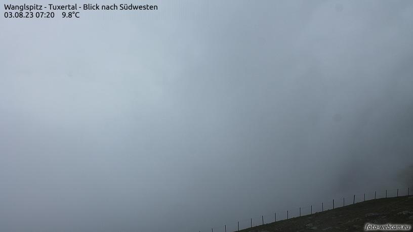 WEBkamera Tux - pohled na Tux a Hintertuxer Gletscher