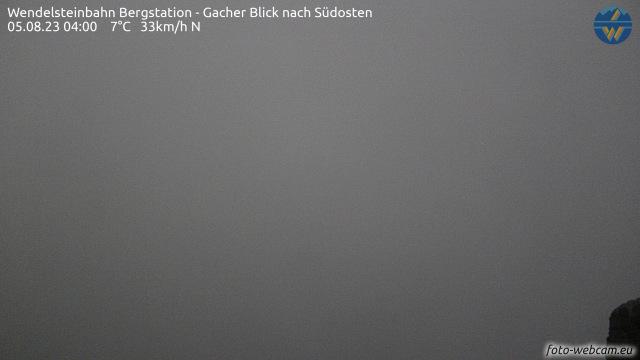 Webcam Wendelsteinbahn, Bergstation - Gacher Blick nach Südosten