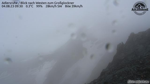 Wetter und Webcam Großglockner/Adlersruhe - 3454 Meter Seehöhe
