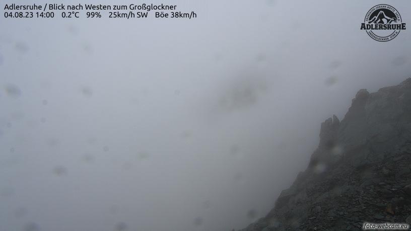 WEBkamera Grossglockner - pohled na vrchol z Adlersruhe