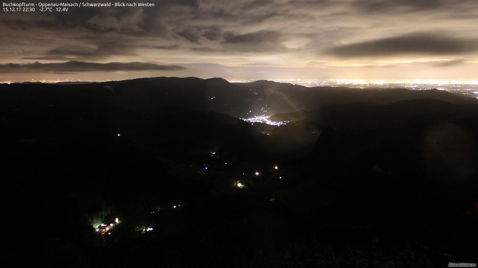 Aufnahme: Buchkopfturm vom 15.12.2017 22:30