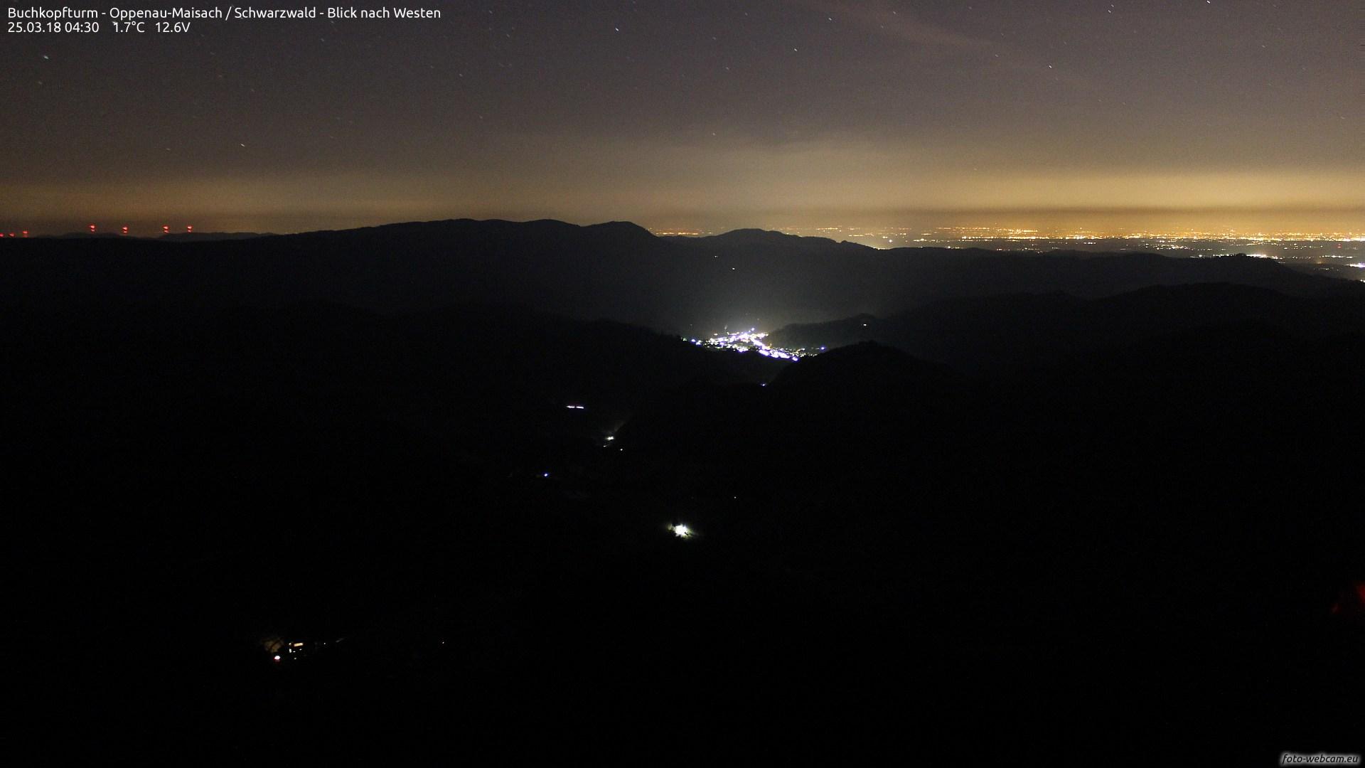 Aufnahme: Buchkopfturm vom 25.03.2018 04:30