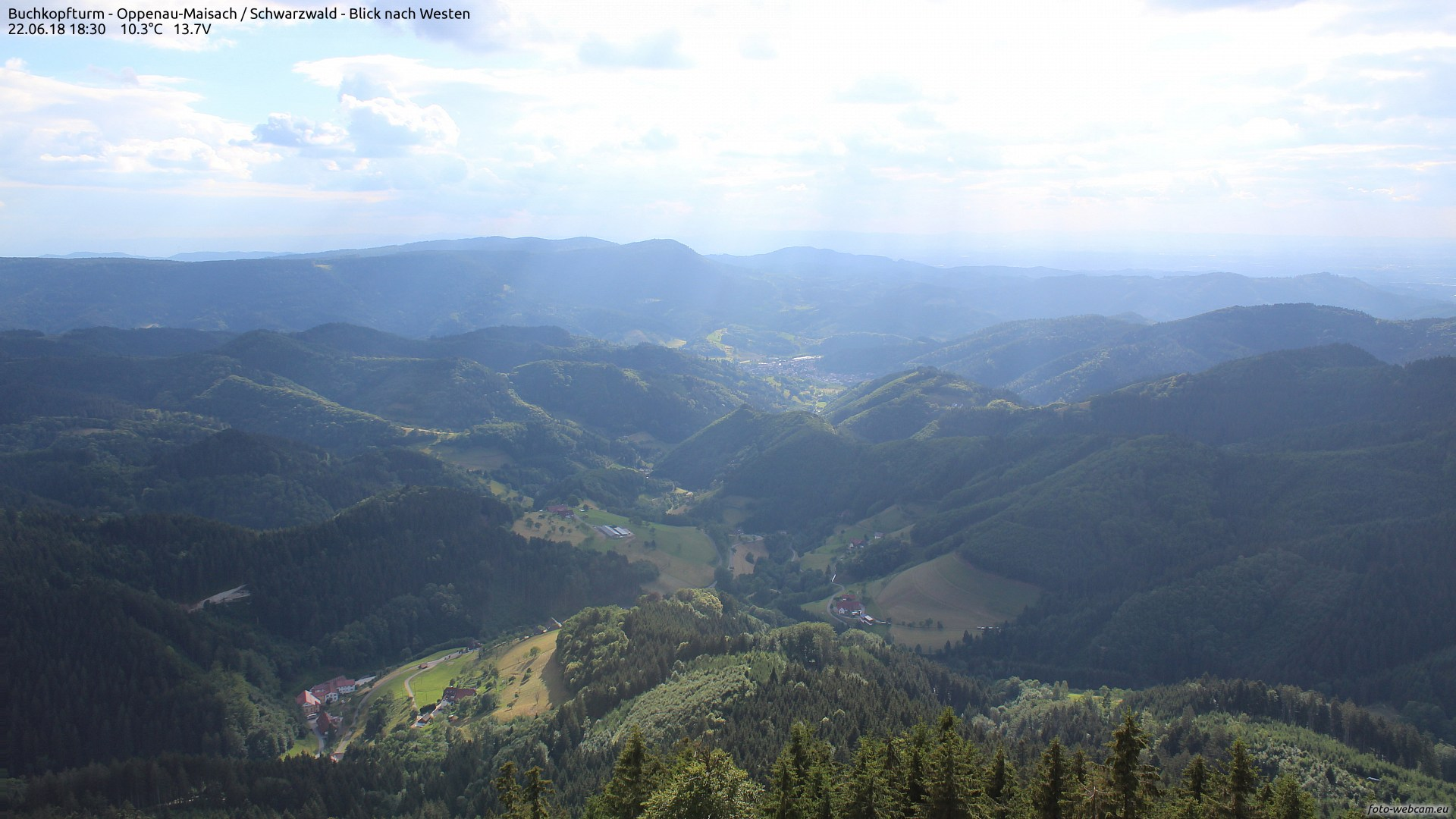 Aufnahme: Buchkopfturm vom 22.06.2018 18:30