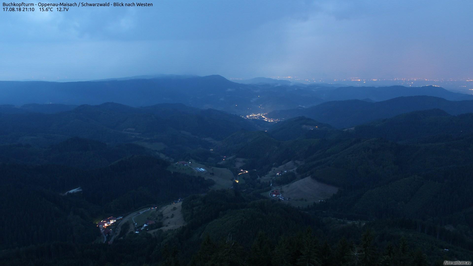 Aufnahme: Buchkopfturm vom 17.08.2018 21:10