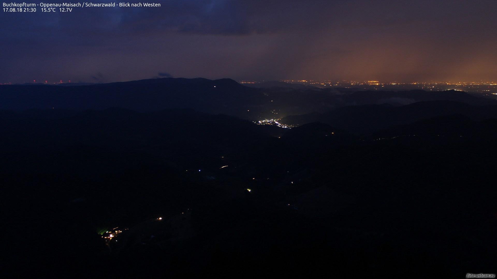 Aufnahme: Buchkopfturm vom 17.08.2018 21:30
