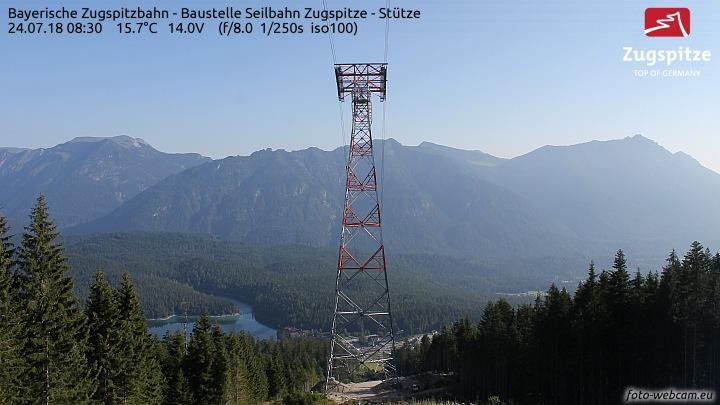 Zugspitze - Baustelle Ebsee-Seilbahn - Stütze