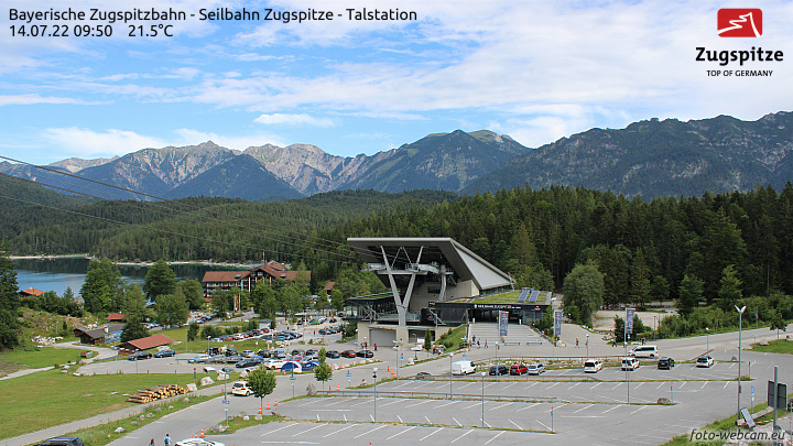Zugspitze - Baustelle Ebsee-Seilbahn - Eibsee Talstation