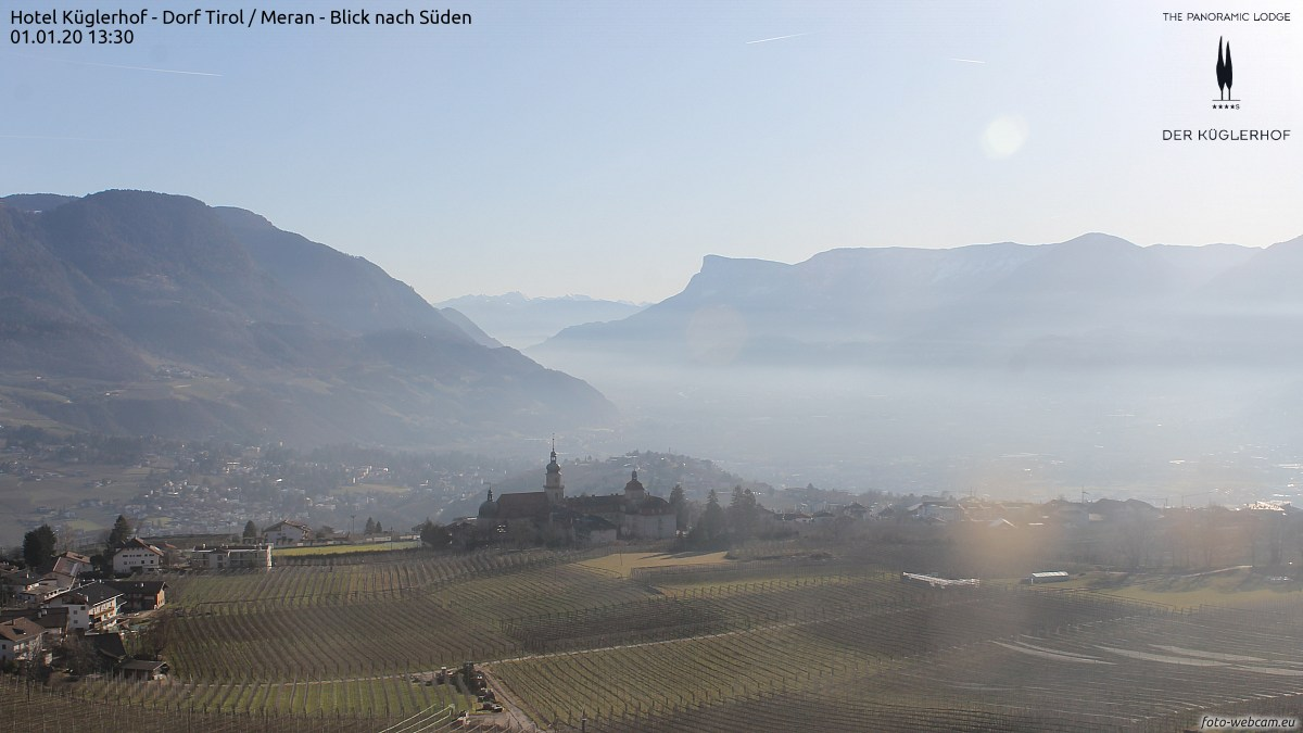Foto-Webcam Dorf Tirol Meran/Tirolo Merano