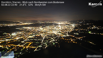 Dornbirn mountain Karren (View from north west to lake of constance)