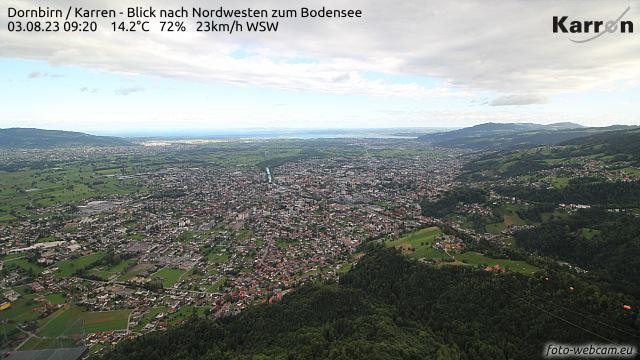 Karren (View northwest to lake of constance)
