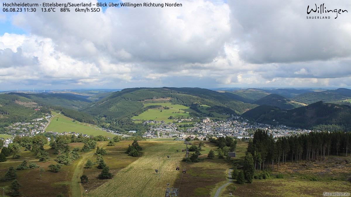 Blick auf die Bergstation der Ettelsberg-Seilbahn