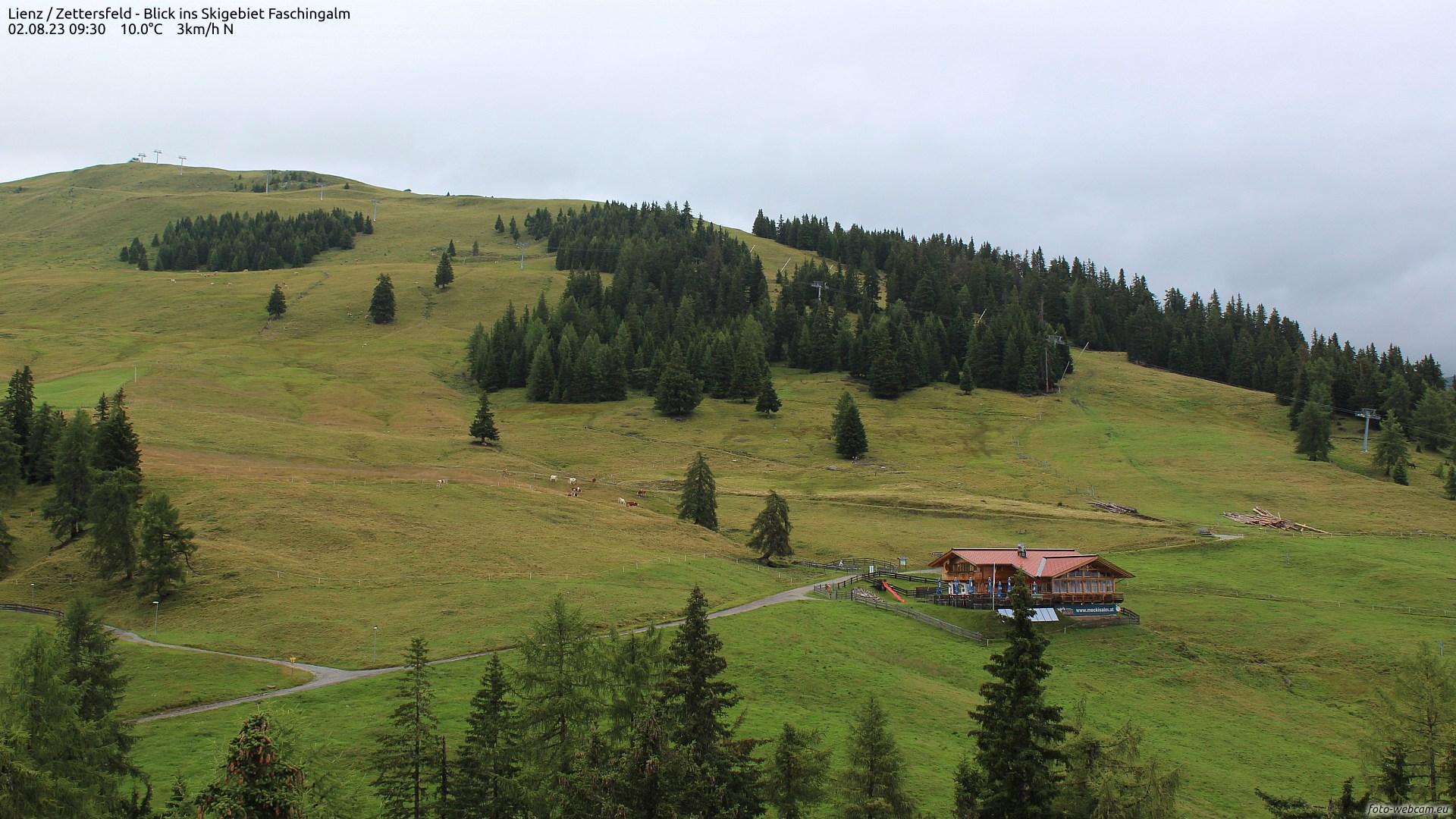 Webcam Lienz / Zettersfeld, Blick ins Skigebiet Faschingalm | © www.foto-webcam.eu