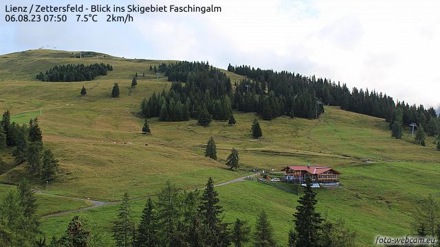 Wetter und Livebild Faschingalm, Livecam und Webcam Faschingalm - 1790 Meter Seehöhe