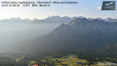 Webcam Fellhornbahn Gipfelstation