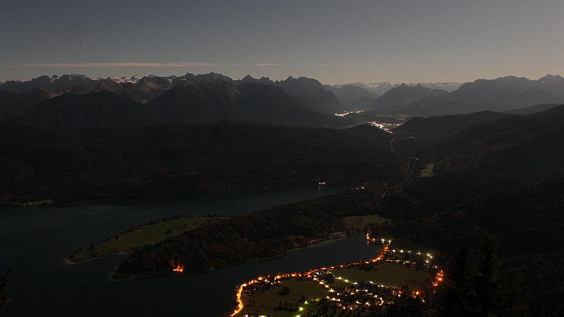 Herzogstand Fahrenbergkopf Blick über Den Walchensee Ins
