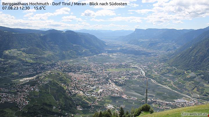 Webcam Hochmuth - Blick Richtung Süden ins Etschtal | foto-webcam.eu
