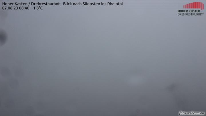 Hoher Kasten 1795m - Blick nach Südosten ins Rheintal