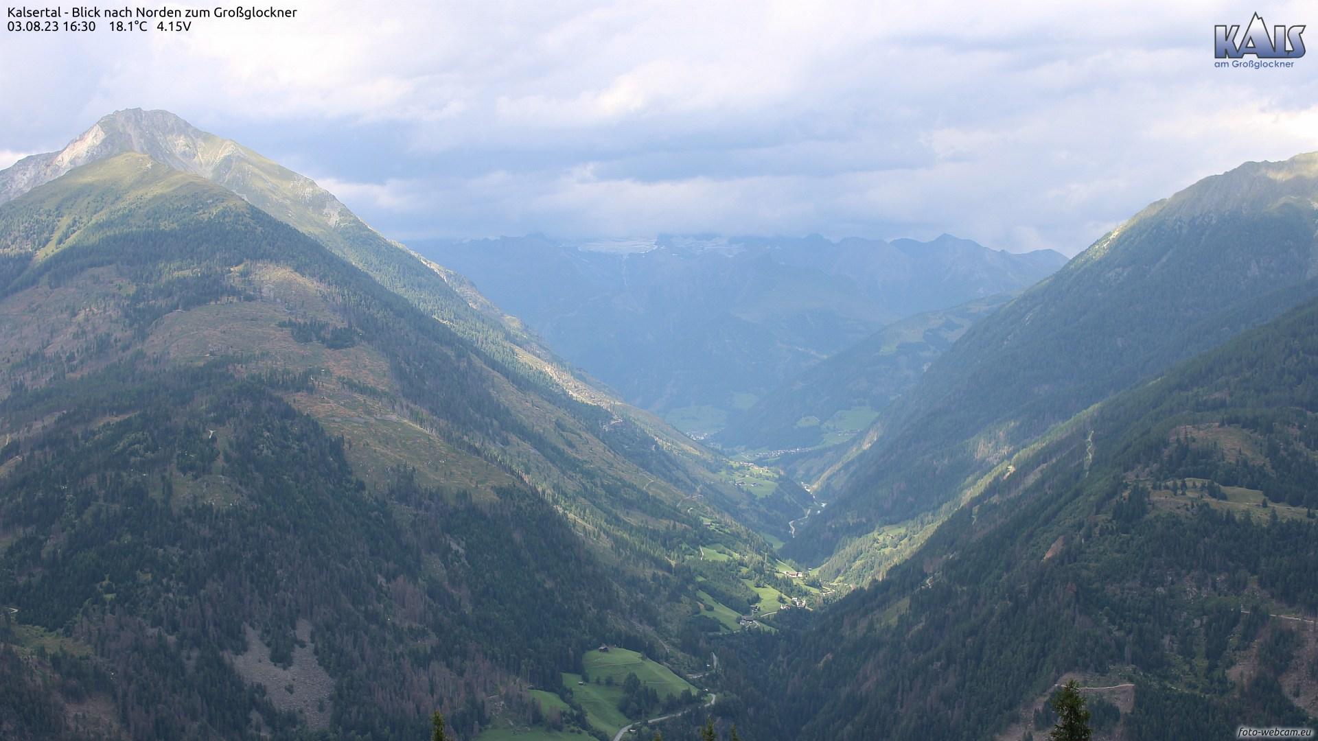 Webcam Kalsertal mit Blick nach Norden zum Großglockner | © www.foto-webcam.eu