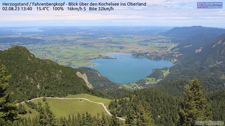 Webcam Kochelsee - Herzogstand