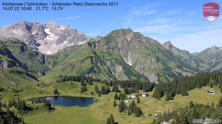 Live Webcam vom Körbersee am Arlberg