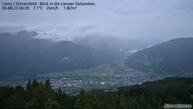 Webcam Lienzer Talboden Richtung Dolomiten und Hochstein