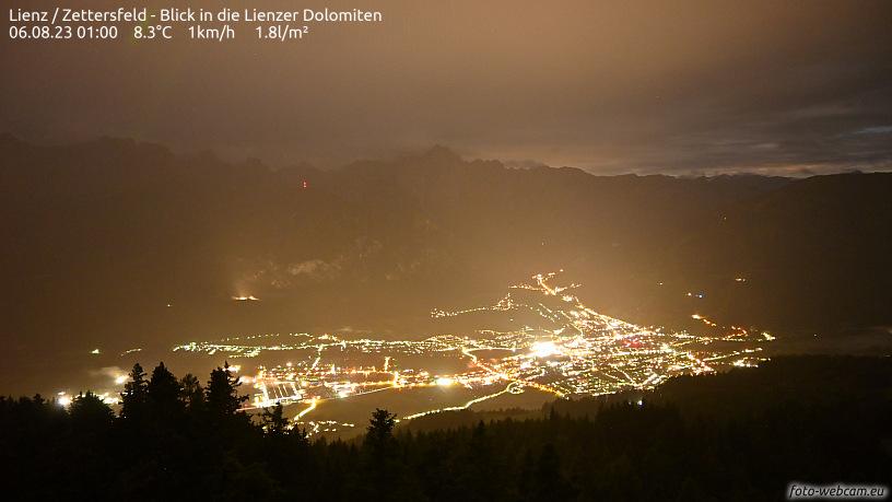 WEBkamera Lienz - Zettersfeld, pohled na Lienz