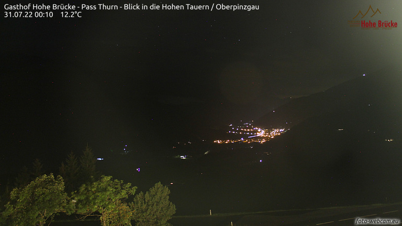 WEBkamera Pass Thurn - pohled na Hollersbach