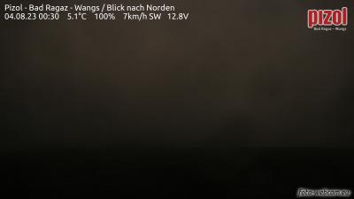 Pizol - aktuální pohled z webkamery