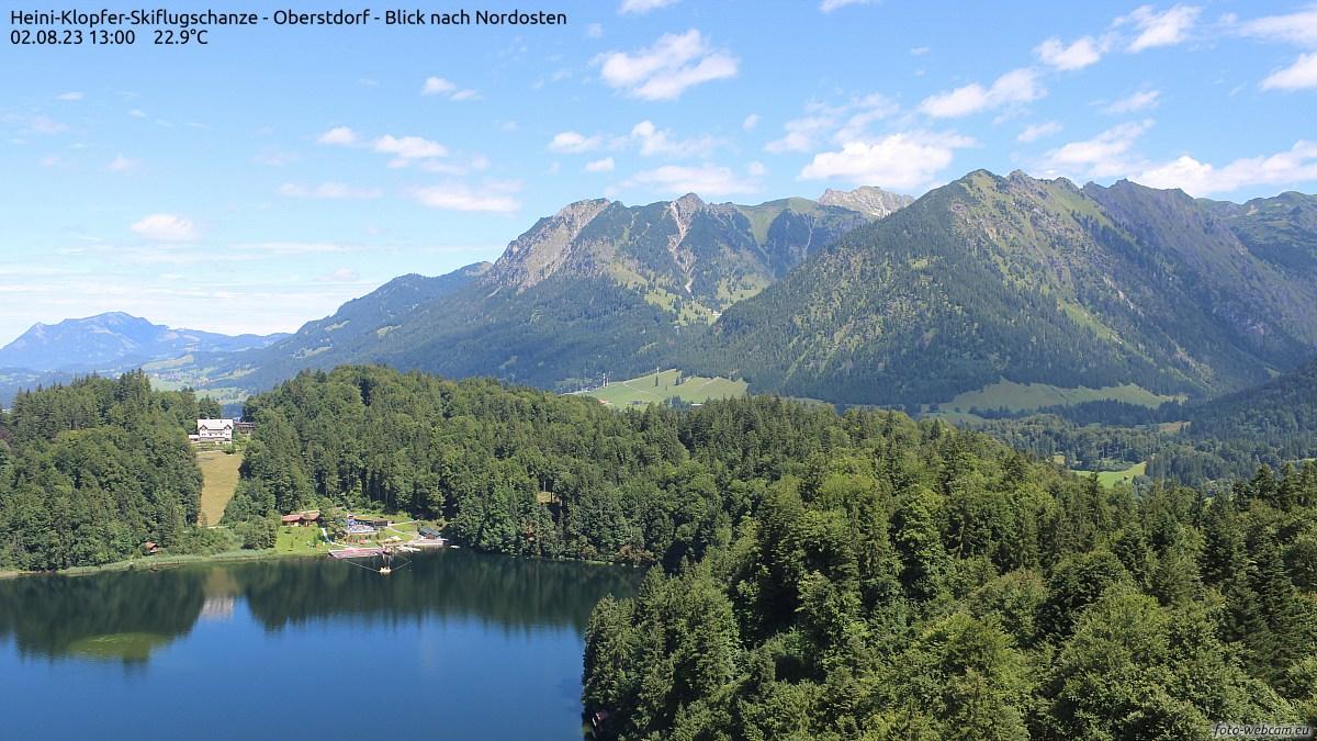 Webcam-Bild: Webcam - Anlaufturm der Skiflugschanze in Oberstdorf