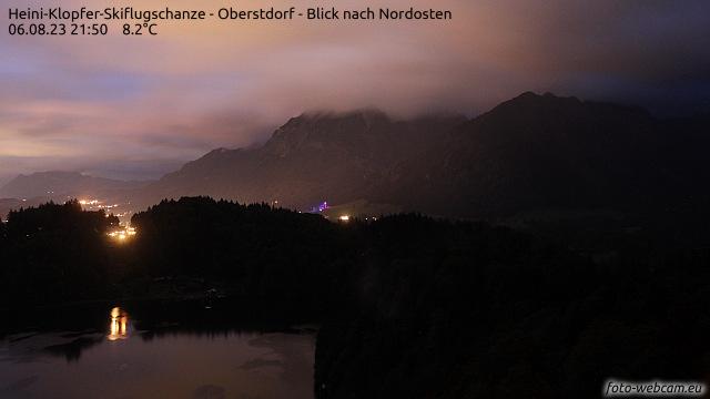 Webcam Anlaufturm der Skiflugschanze in Oberstdorf im Allgäu