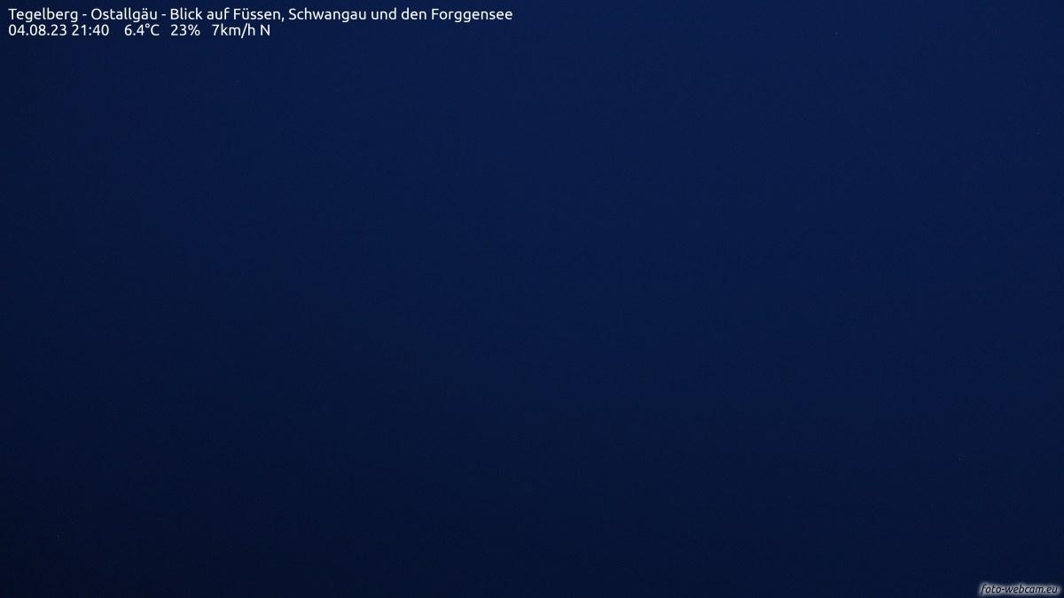 Tegelberghaus - Ostallgäu - Blick auf Füssen, Schwangau und den Forggensee<br />Quelle: www.foto-webcam.eu