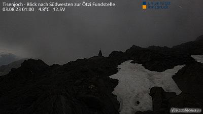 Val Senales - Giogo Tisa - Vista al punto di ritrovamento di Ötzi