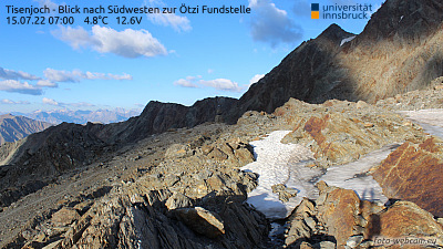Schnalstal - Tisenjoch - Blick auf die Ötzi Fundstelle