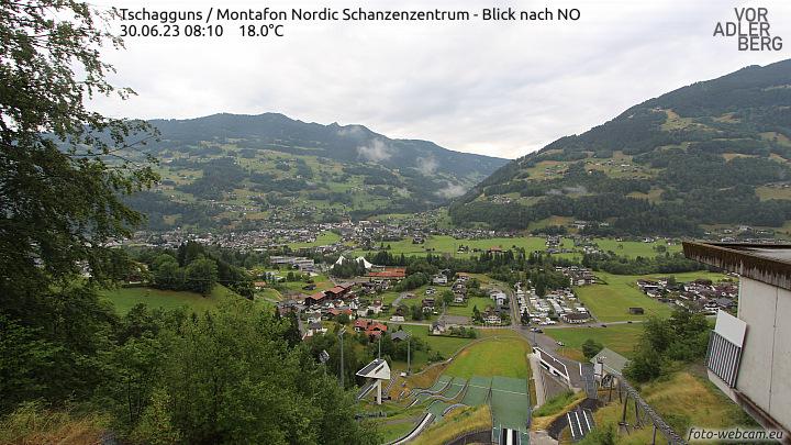 Skisprunganlage in Schruns-Tschagguns, das Montafon Nordic Zentrum.