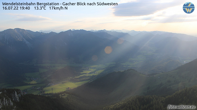 Wendelsteinbahn Bergstation Gacher Blick nach Südwesten