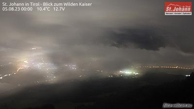 Blick auf St. Johann in Tirol und den Wilden Kaiser
