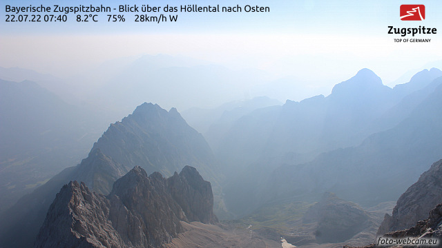 Webcam Alemania Garmisch-Partenkirchen Panorama desde lo alto del Zugspitze